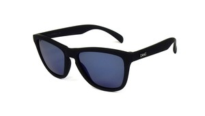ORIGINAL Black Soft x Blue Mirror Polarized with Metal Logo