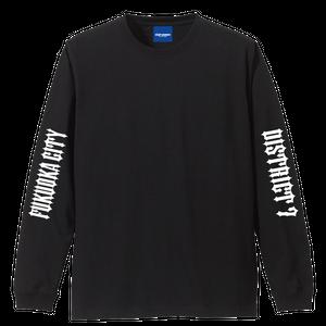 DISTRICT 7 ロングスリーブTシャツ(ブラック)