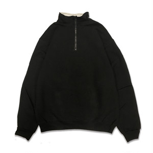 FRUIT OF THE LOOM / Qauter-ZIP SWEAT 【DEAD STOCK】ブラック