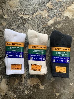 Railroad socks health trak natural cotton socks 2P