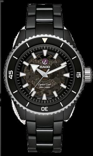 【RADO ラドー】Captain Cook High-Tech Ceramic キャプテンクック ハイテクセラミック(ブラック×シルバー)/国内正規品 腕時計