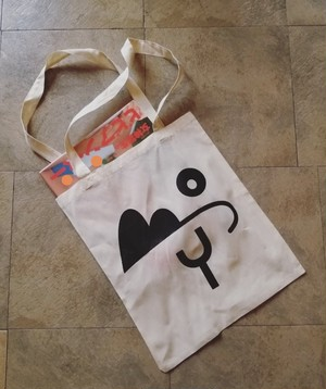 BOY LOGO TOTE BAG(NATURAL)