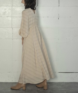 STRIPE LONG DRESS(IVORY)