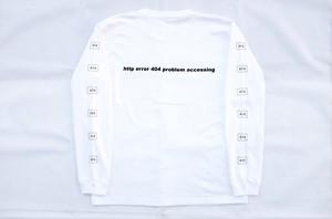 SNAKE PORNO 404ERROR http LS Tシャツ WHITE スケークポルノウィール