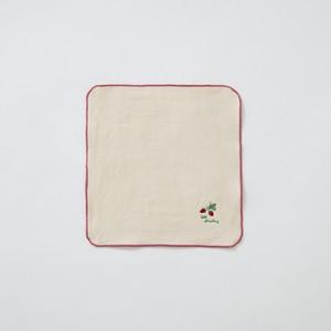 カラーメローハンカチ〈ワイルドストロベリー〉