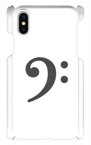 【iPhoneX用】ヘ音記号スマホケース