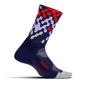 Feetures|ELITE LIGHT CUSHION MINI CREW - 19 Midnight Pixel Pattern