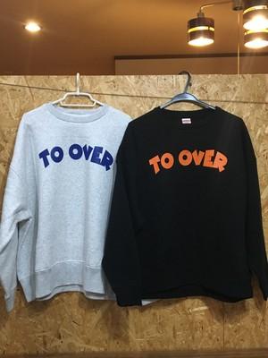 to overflow evidence / POP logo ビックシルエットスウェット