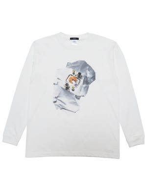 hotel breakfast long sleeve T-shirt (white)