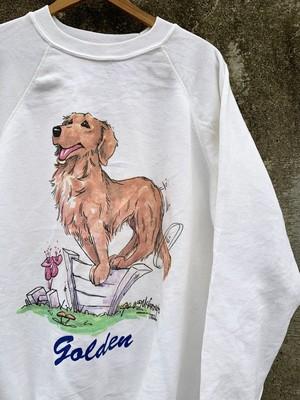 Vintage Golden Retriever Printed Sweat Shirt