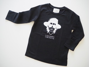 Merge LA パロディー7部丈ロングTシャツ(ブラック)