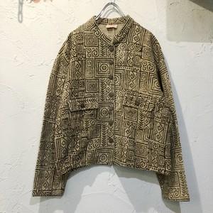 (PAL) stand collar crop top jacket