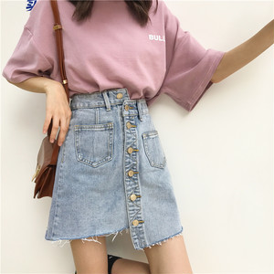【お取り寄せ商品】Asymmetry denim skirt 5811