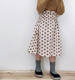 NEW ポルカドットシャーリングスカート
