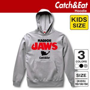Catch&Eat【MAGOCHI JAWS パーカー】【キッズ】 釣り/フィッシング/サーフフィッシング/ルアーフィッシング/釣り女子/釣りガール/ヒラメ/シーバス/ブリ/マゴチ/ワラサ/フーディー