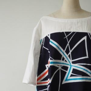 天然素材 浴衣とガーゼの可愛いレディースシャツ