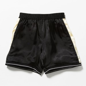 SATIN SOUVENIR  SHORTS - BLACK