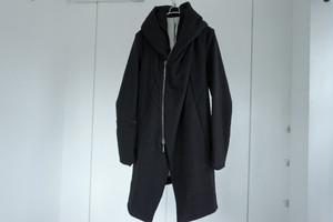 masnada / Zip hoodie coat / BLK