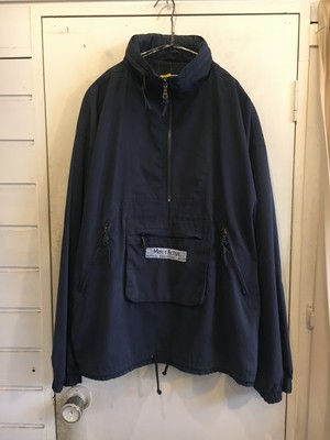 smooth poly × cotton anorak