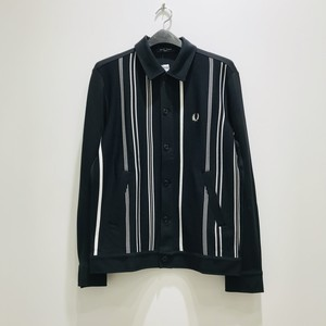 FRED PERRY : Striped Shirt Cardigan