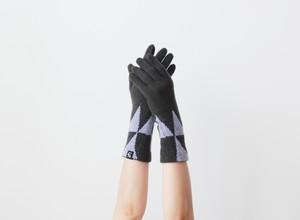 % PERCENT 手袋(CONFORTABLE:ダークグレー・ライトパープル)裏起毛・スマホ対応・ギフト箱付き(男女兼用フリーサイズ)