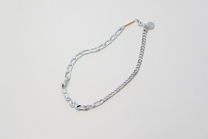 SWITCHING SHORT NECKLACE -SILVER- / JieDa