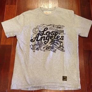 "SALTWATER COWBOY / ソルトウォーターカウボーイ | "" LosAngeles "" T-Shirts / Heather Gray"