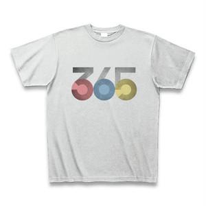 ポップな赤・青・黄365TシャツA(グランジテクスチャ)