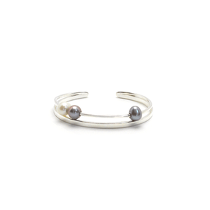 Snow dust bangle two gray