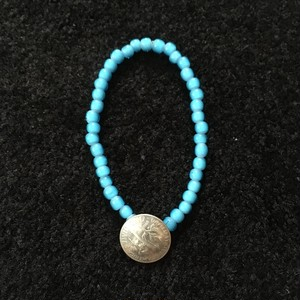 ONE DIME concho×whitehearts beads bracelet