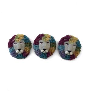 [羊毛フェルト] ライオン(おす) ブローチ