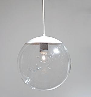 φ250 ガラスグローブペンダント(クリア)/WH