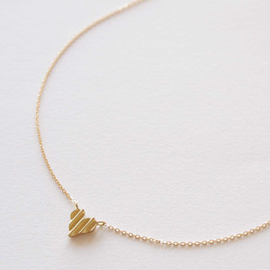 Heart Shape Necklace - たて模様
