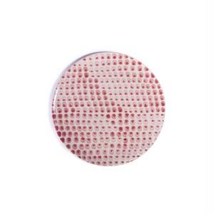 Dots red ドット 赤 正円プレート スモール