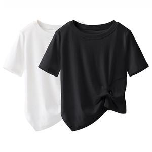 simple ツイストデザインTシャツ c3690