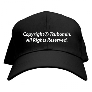 TSUBOMIN / COPYRIGHT CAP BLACK