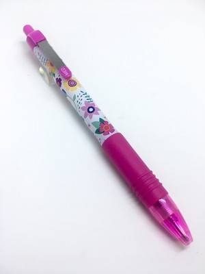 ZEBRA Z-Grip Flowers Pink