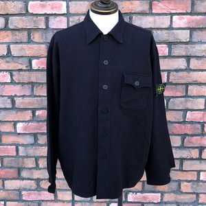 1980s Stone Island Wool Over  Shirt Made In Italy XXL