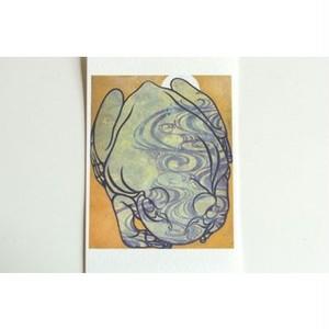 月蛙 ポストカード 『流水月蛙』 10009