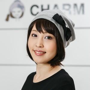 前髪取り外し式タイプ・髪付き帽子(ミディアムショート)