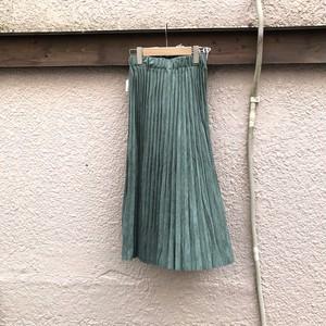 スウェードプリーツスカート カラー: Khaki