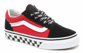 VANS バンズ KIDS Old Skool (Logo Pop)Black / True White 21cm(実寸22cm)