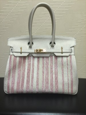 Bag pink stripe