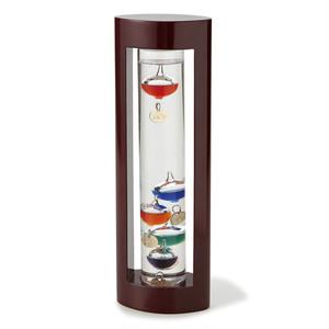 【サイエンス雑貨】ガラスフロート温度計L/水中に浮かぶプレートで温度測定