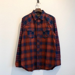 TRIPLE CHECK WESTERN SHIRTS (RED BASE) / LOST CONTROL