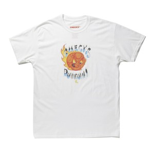 CHECKS Angry Planet T-shirt(White)