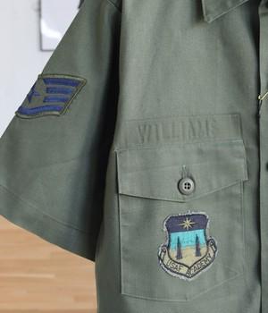 VINTAGE 80s USA MILITARY SHIRT -US AIR FORCE-