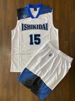 【デザインサンプル】伊敷台中学校男子バスケットボール部(U15・男子)昇華ユニフォーム