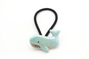 有田焼ヘアゴム クジラ 1