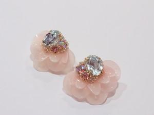 【イヤリング.6】phantomFLOWER crystal